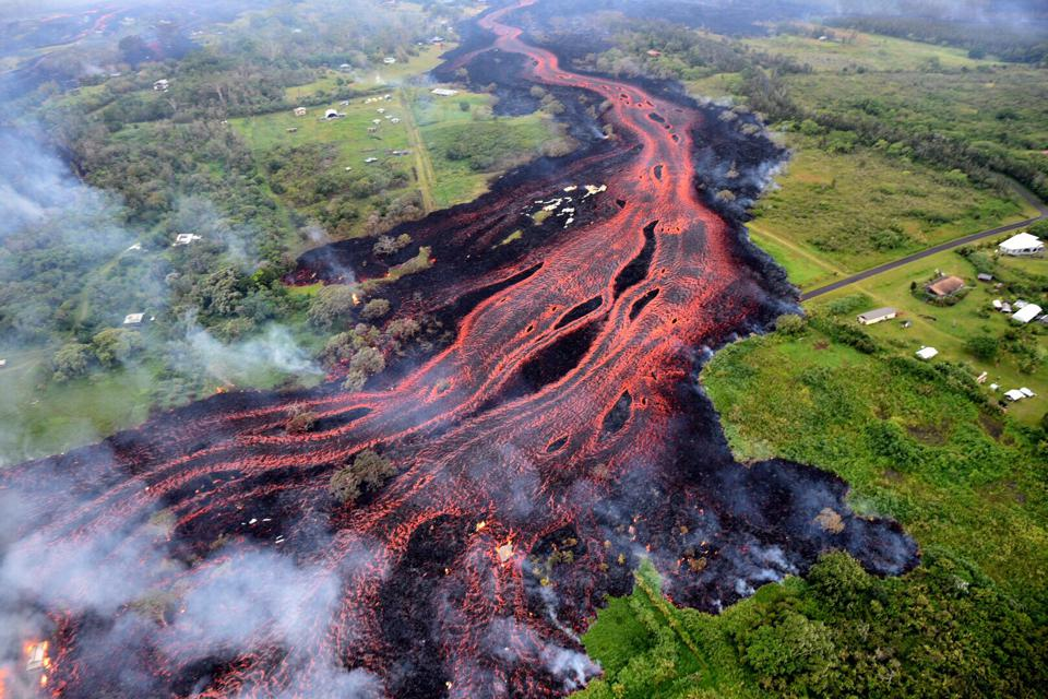 US: Hawaii volcano destroys dozens of structures