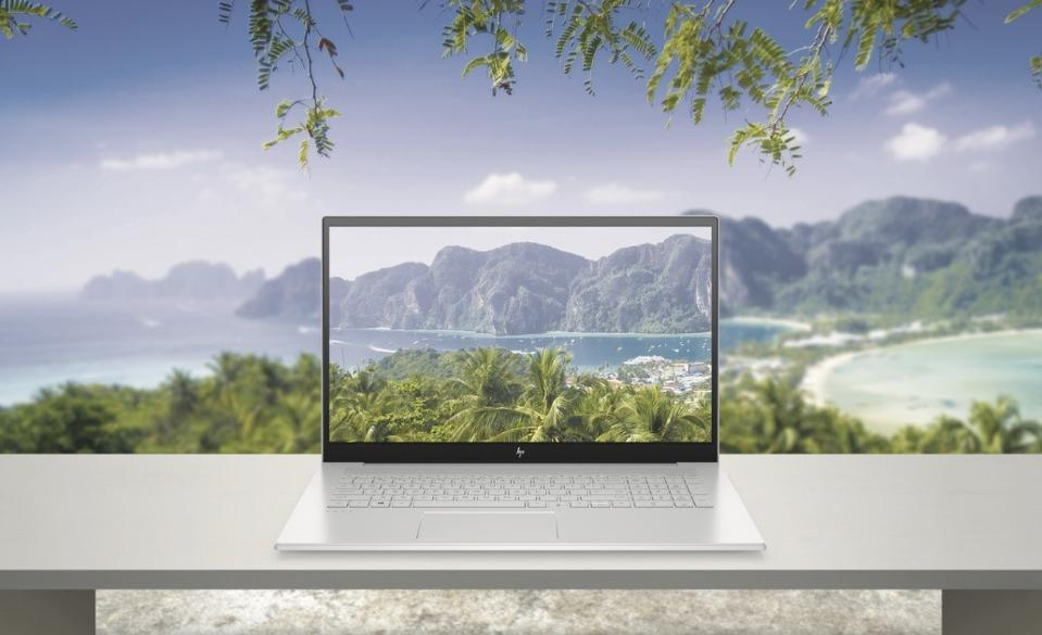 The HP ENVY 17 has an 86% screen-to-body ratio.