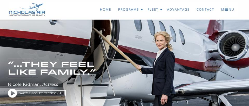 Nicole Kidman's private jet