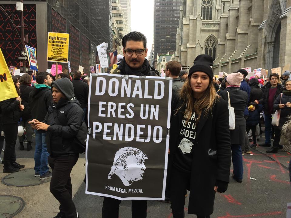 Ilegal Mezcal anti trump campaign