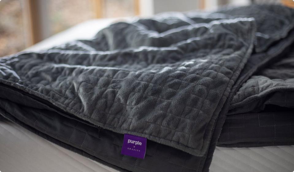 Purple + Gravity Weighted Blanket