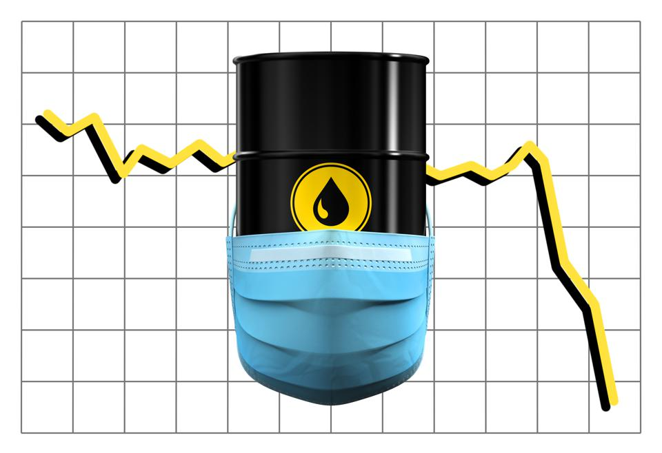 Barrel Of Oil Depicting The Damage Done To Oil Demand During The Coronavirus Quarantine