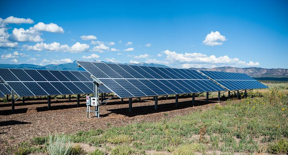 Solar array in Colorado