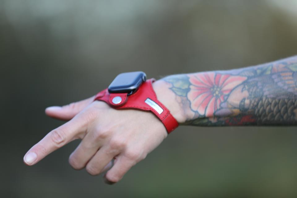 An Apple Watch in an ErgonBand