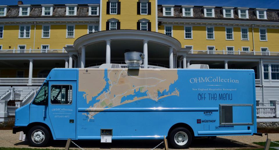 The Ocean House/OHM Collection food truck pictured outside Ocean House in Watch Hill, RI