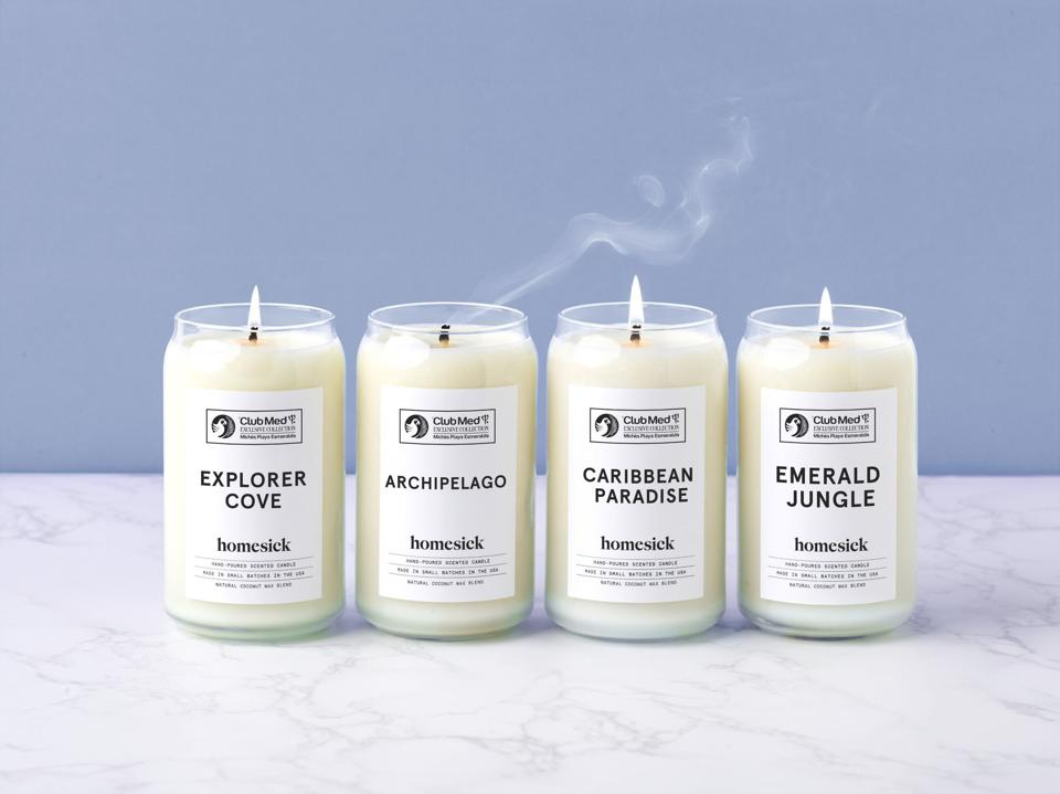 4 homesick candles from club med