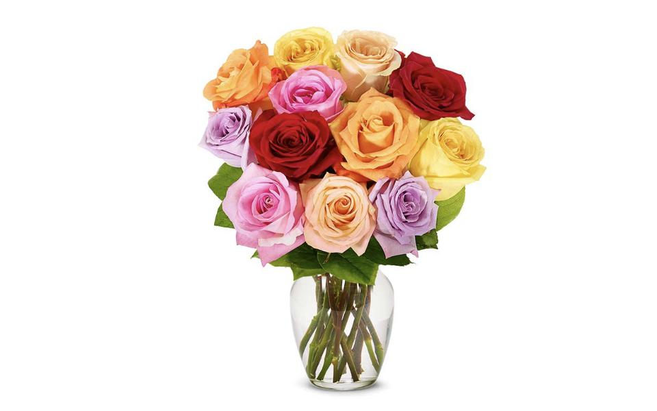 From You Flowers One Dozen Rainbow Roses