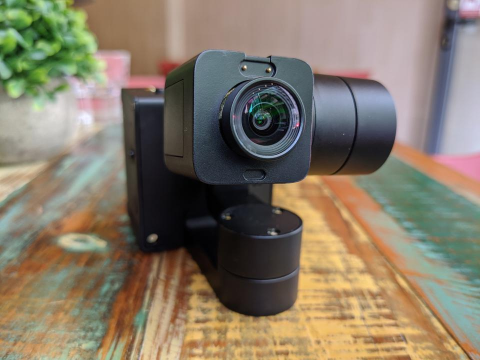 The IdolCam is built on a three-axis gimbal.