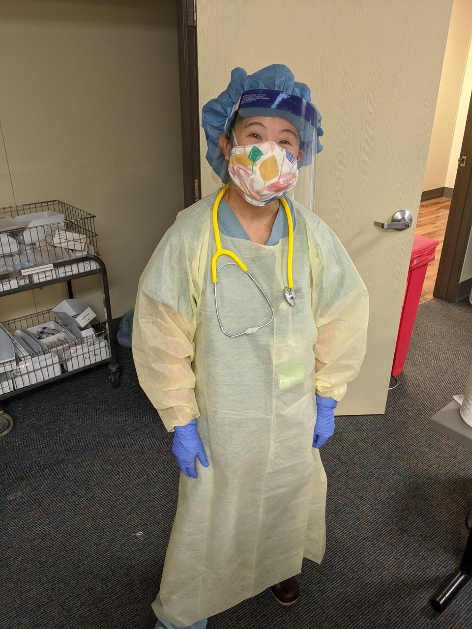 handmade mask, face masks, healthcare workers, nurses