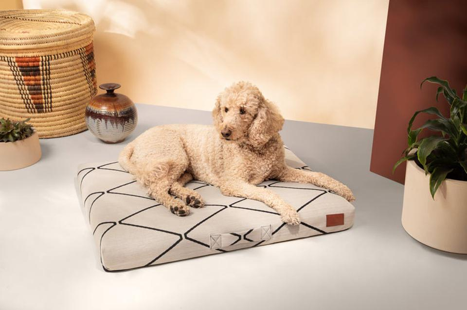 Altuzarra x Etsy Dog Bed, Cream Dog Bed, Geometric Dog Bed, Moroccan Diamond Pet Bed