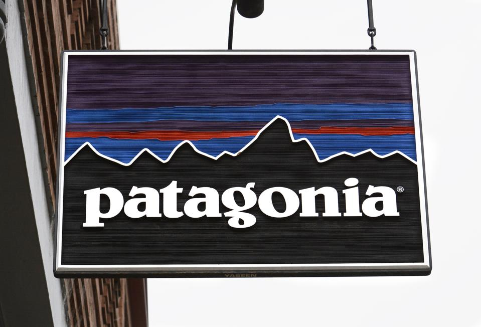 A Patagonia store sign in Telluride, Colorado. (Photo by Robert Alexander/Getty Images)