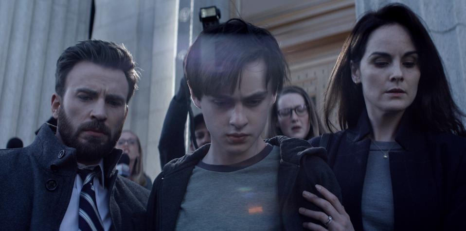Chris Evans, Jaeden Martell and Michelle Dockery star in ″Defending Jacob.″