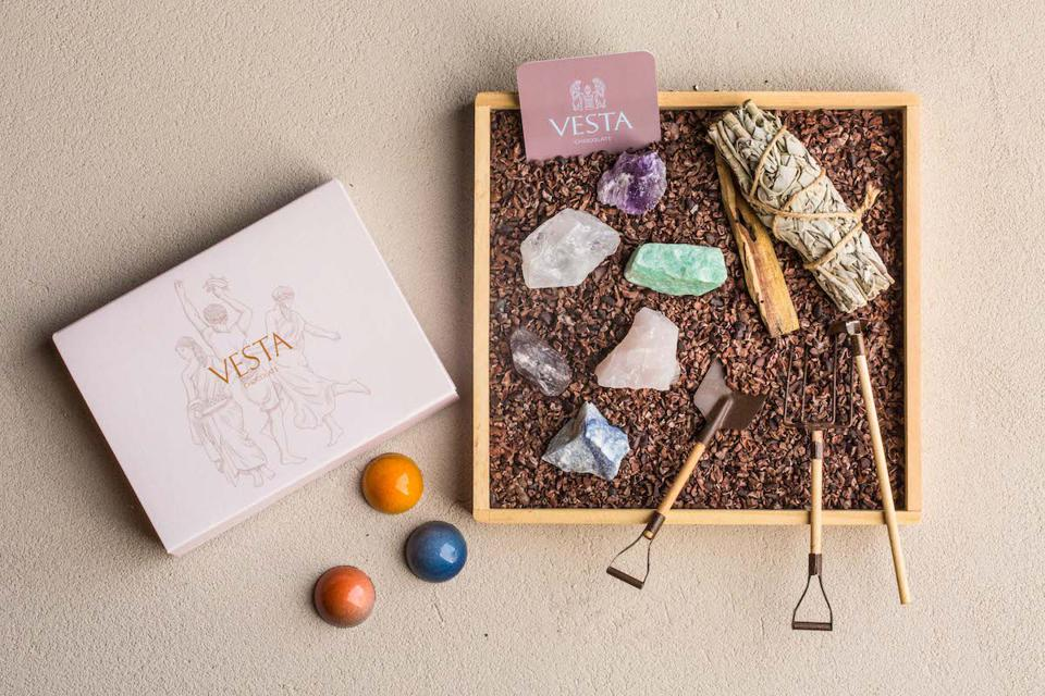 Vesta Chocolate Zen Garden Gift Set New Jersey Mother's Day Gift Guide Cacao Bonbons Luxury