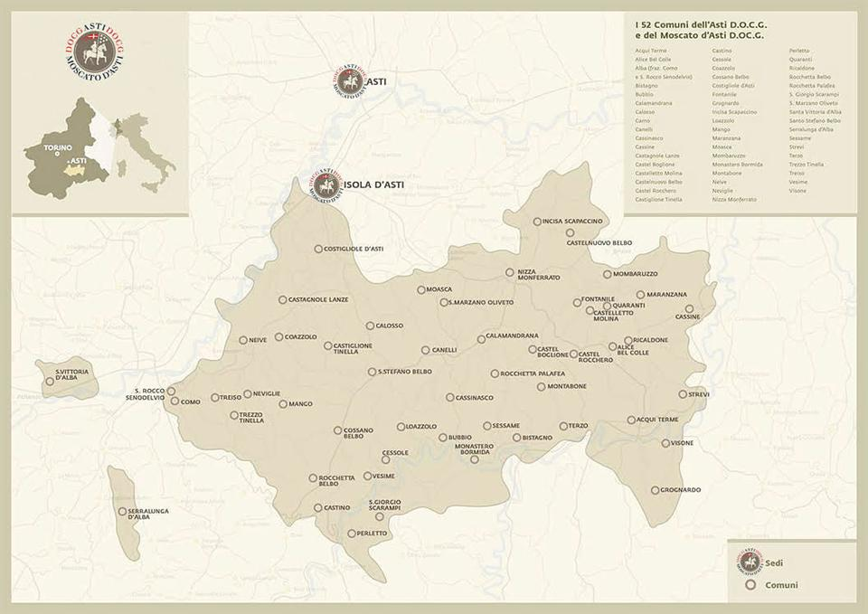 Map of Asti Production zone