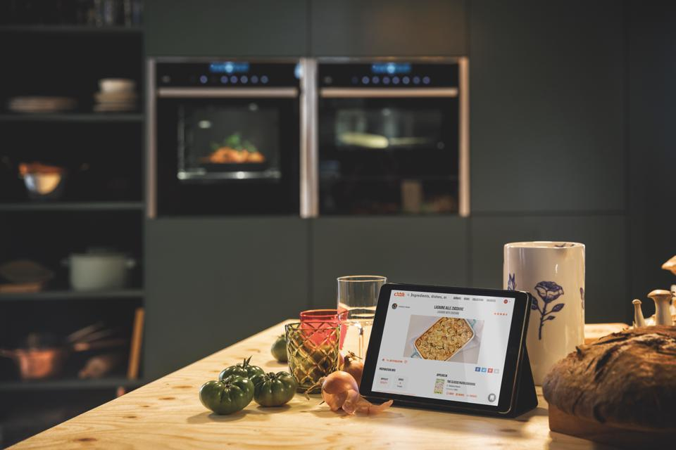 A table and online recipe in the kitchen of ckbk.