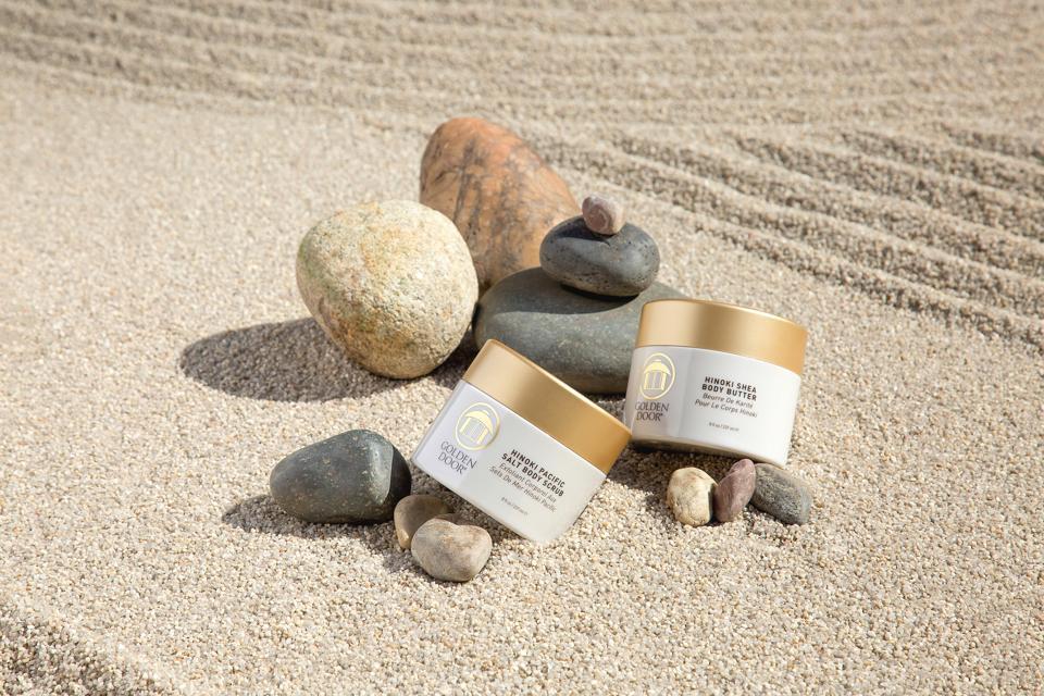 spa products in zen garden