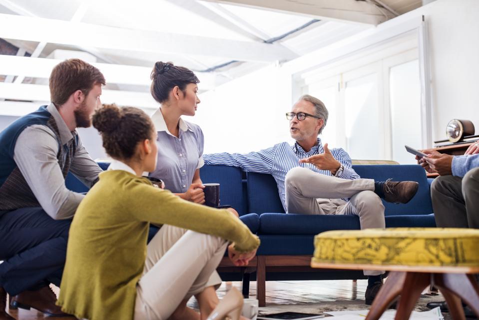 Leader keeps talking without engaging team members