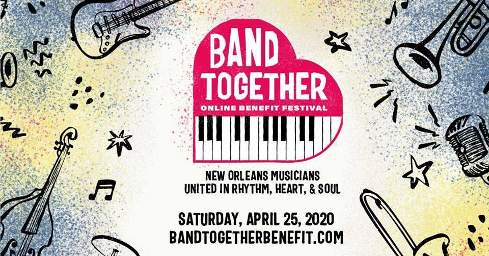 The Band Together Festival will take place from 3-6 p.m. CDT on Saturday, April 25.