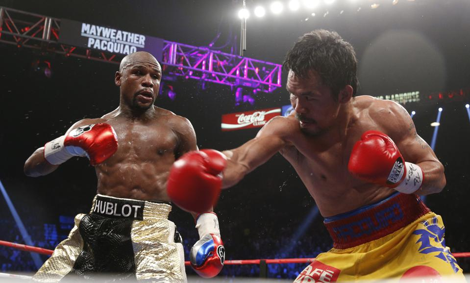 Floyd Mayweather vs Manny Pacquiao boxing on TV ESPN