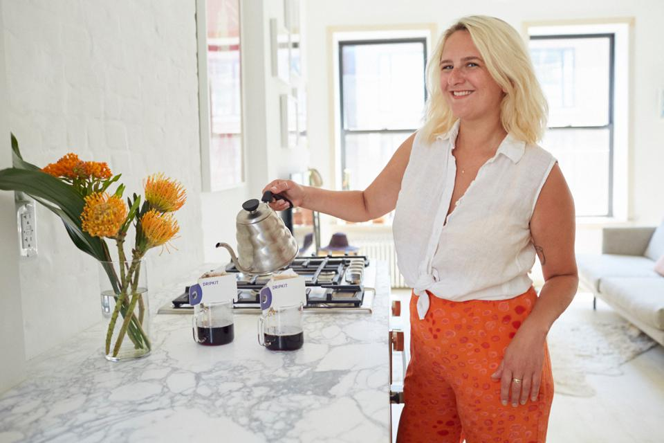Dripkit Coffee Founder and CEO Ilana Kruger, recipient of Bumble COVID-19 small business grant