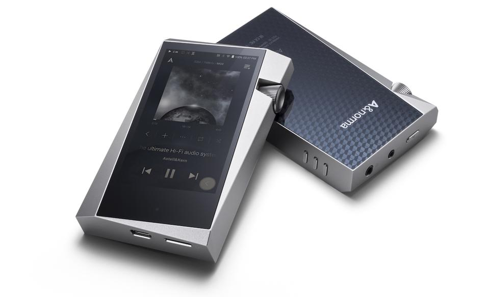 Two Astell&Kern A&norma SR25 shown front and back