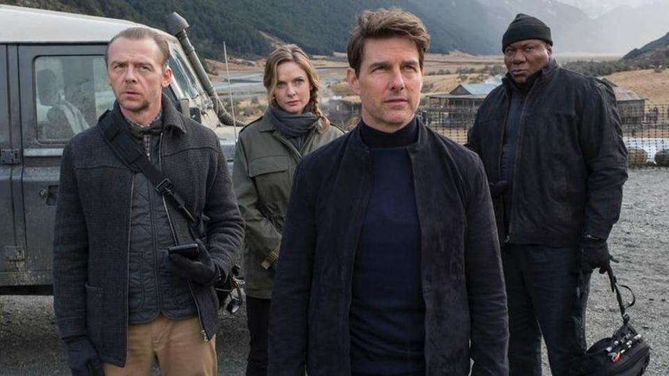 Simon Pegg, Rebecca Ferguson, Tom Cruise and Ving Rhames in 'Mission Impossible Fallout'