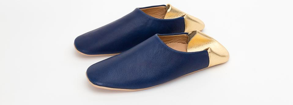 Jill Burrows Leather Slippers