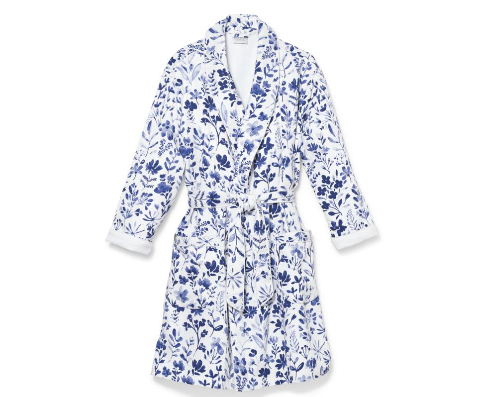 Boll and Branch Botanical Print Spa Robe