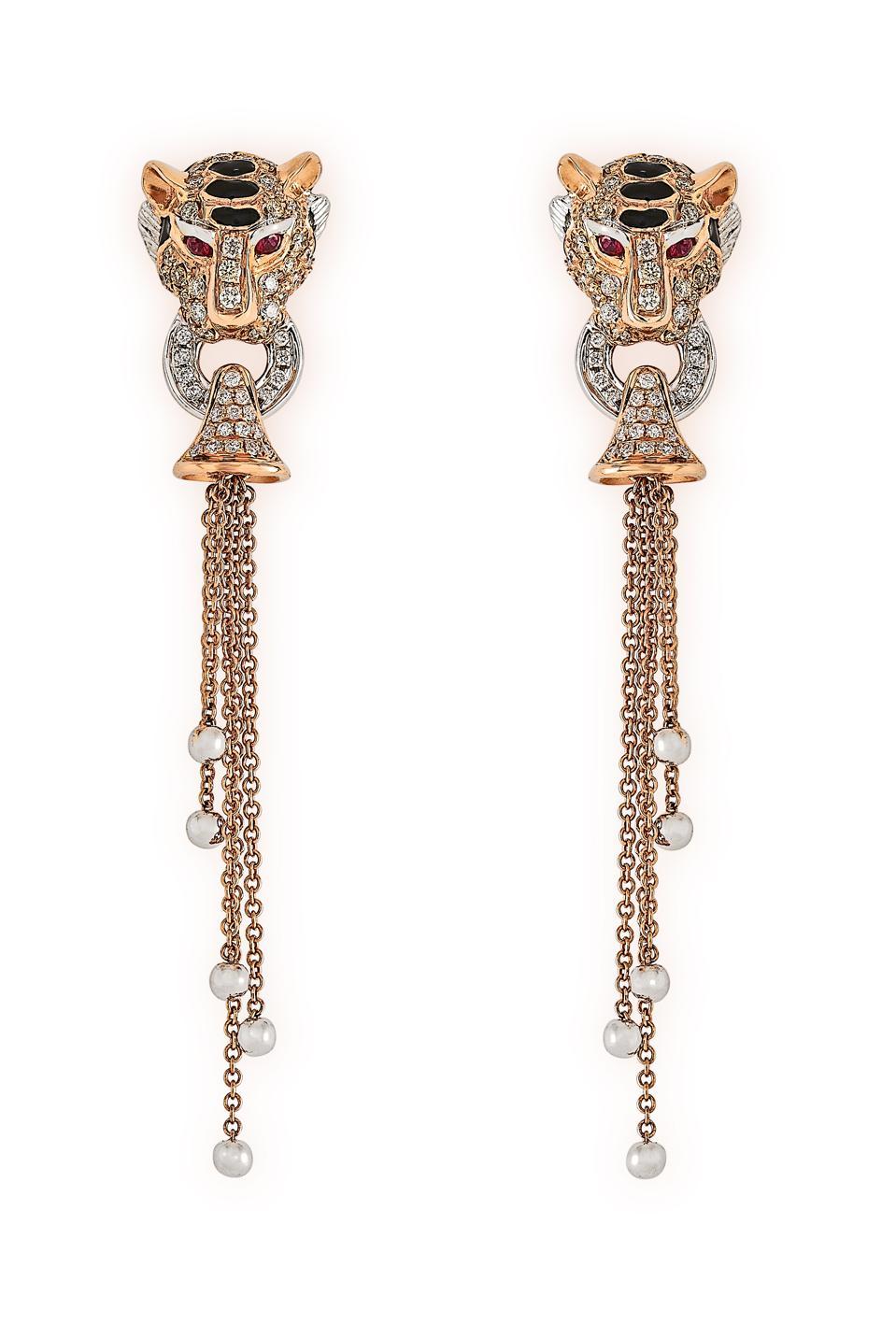 Tiger earrings by Susannah Lovis