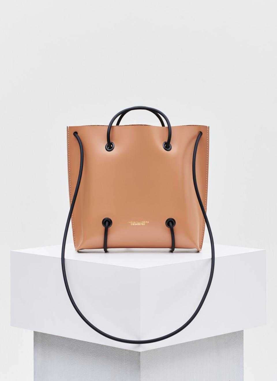 The Large Nude Utility Handbag by Kozha available at Kool and Konscious