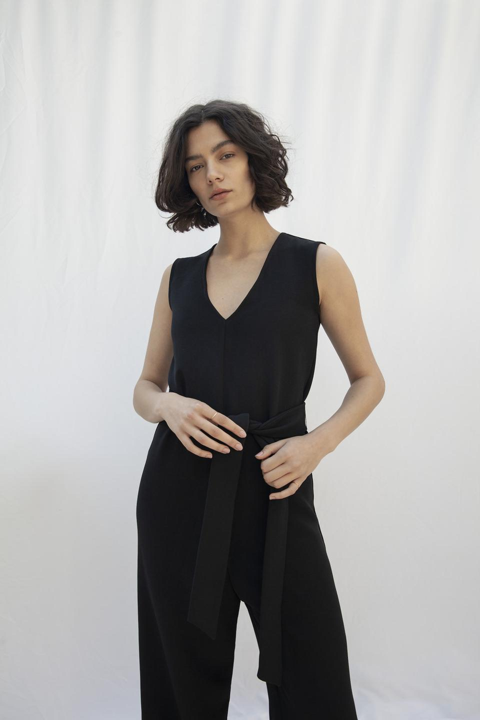 Soho Ethical Jumpsuit in Black by Vanesa Vinhas available at Kool and Konscious