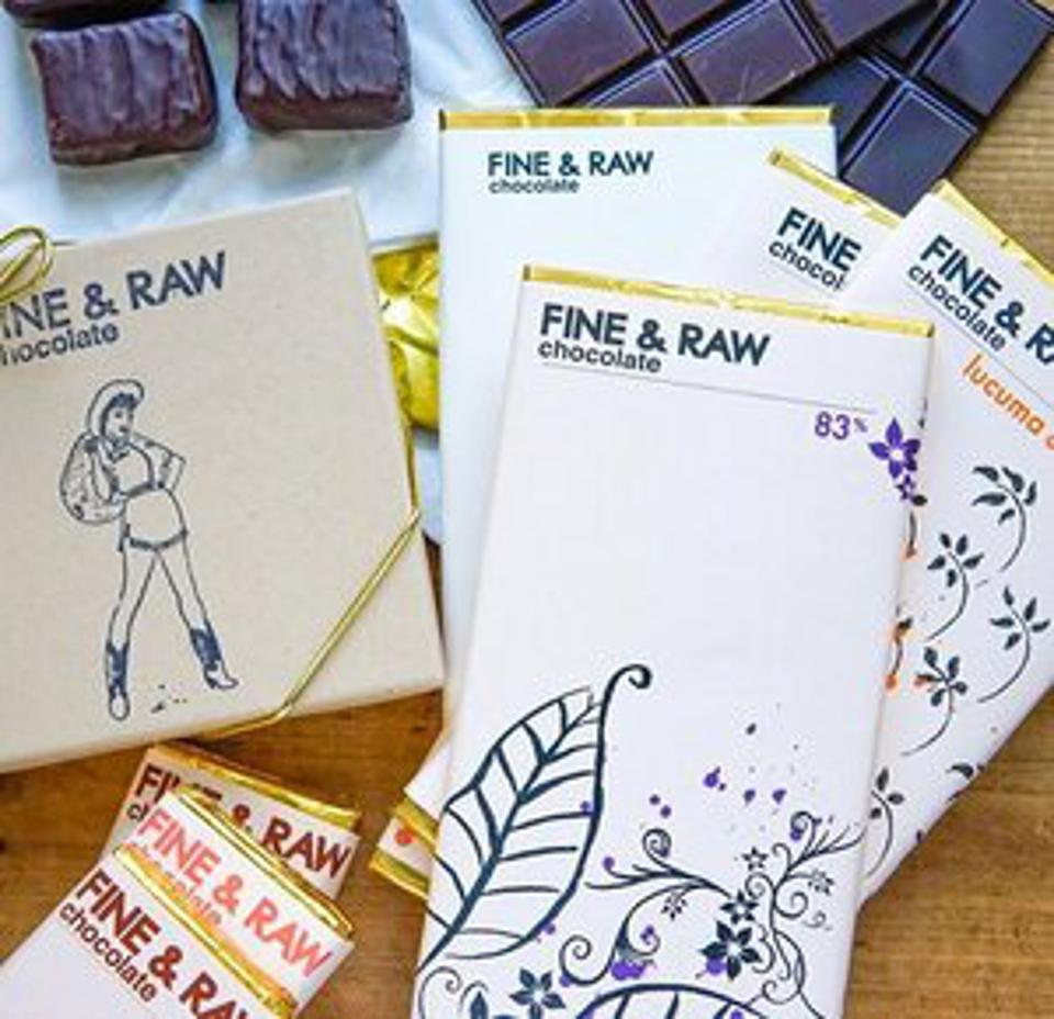 Fine & Raw's chocolate tastes pure and bold, lacking that mass market sweetness.
