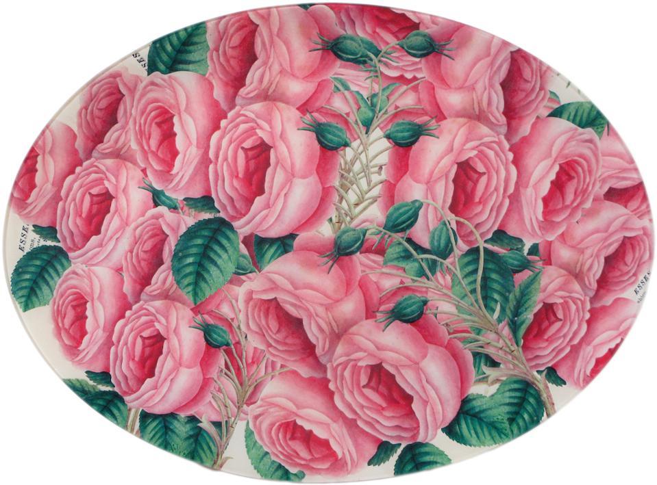 Assiette de roses en cascade John Derian,