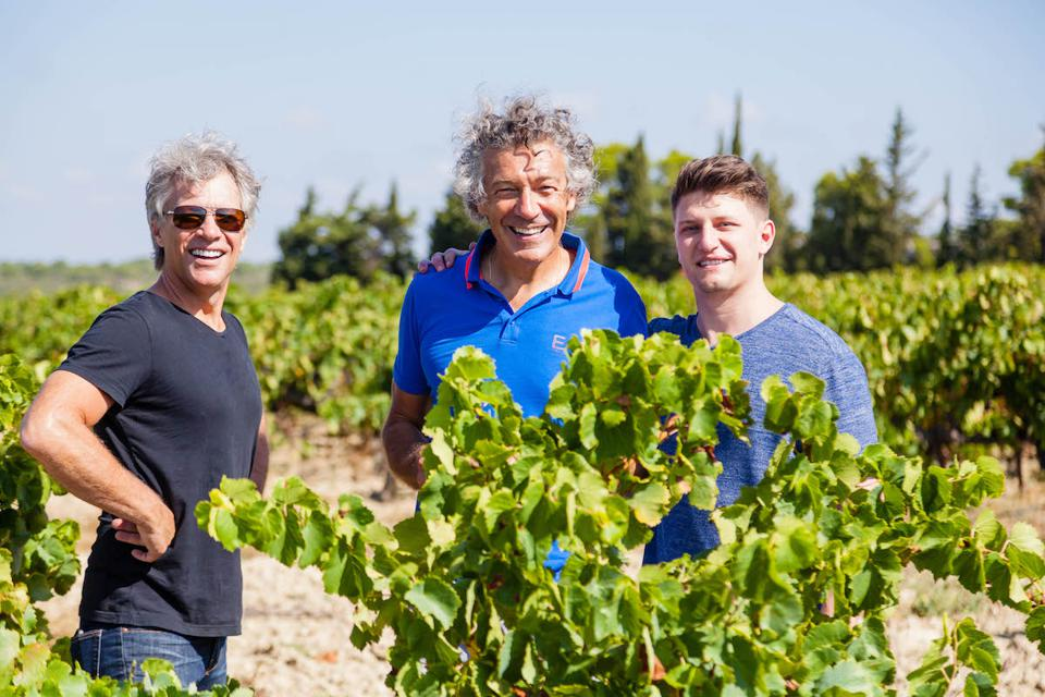 Jon Bon Jovi, Gérard Bertrand, Jesse Bongiovi, Wine, Wine.com, wine tasting, virtual tasting