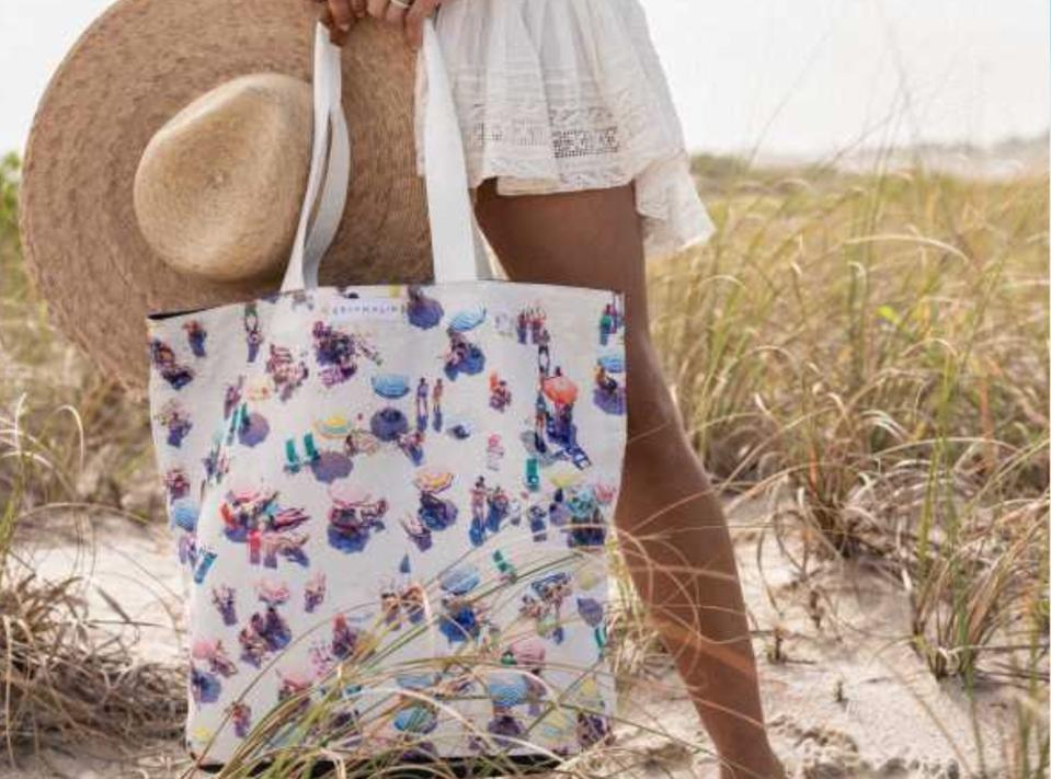 The Copacabana Tote Bag from Gray Malin will make you feel like you're at the beach, even when you're stuck at home.