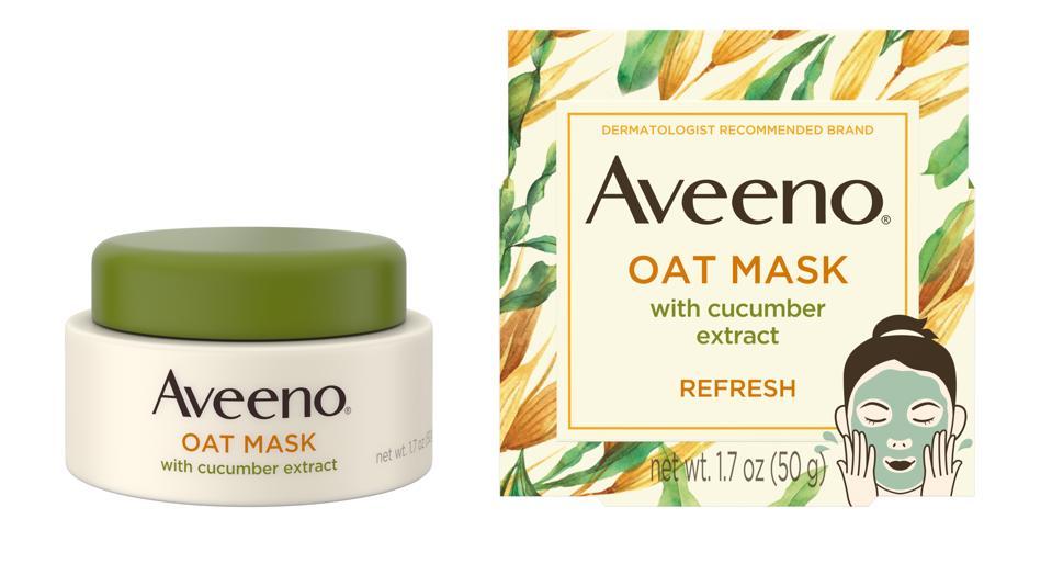 Masque Aveeno à l'avoine avec extrait de concombre