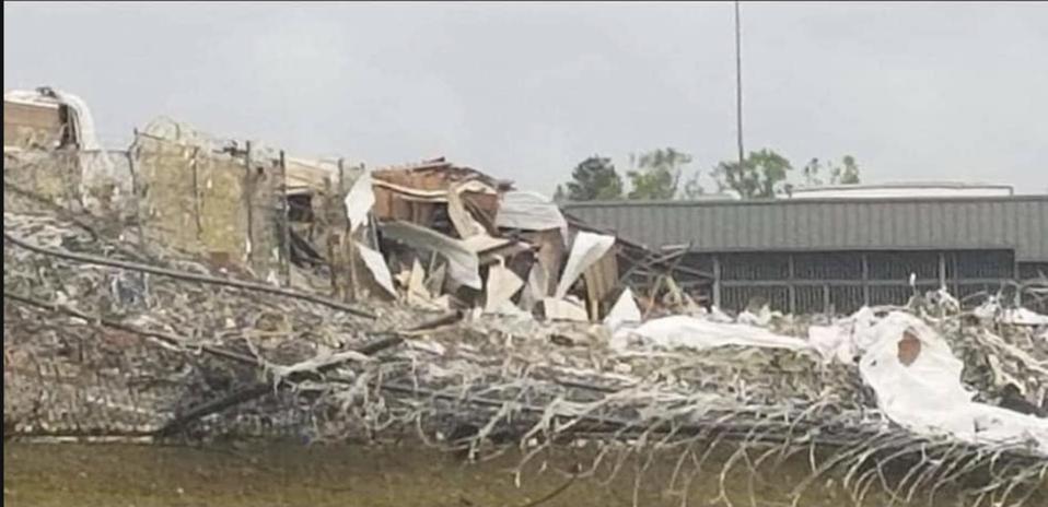 Photo of the damage at FCI Estill in South Carolina