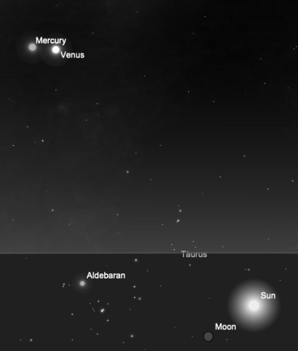 Mercury and Venus in conjunction on May 22, 2020.