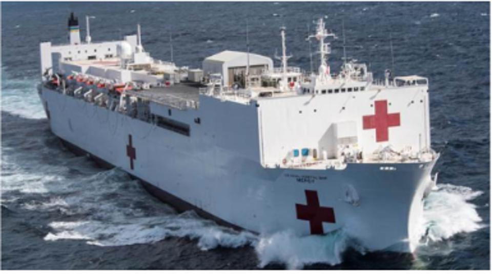 The USNS Mercy floating hospital has been working closely with Dell Technologies Services team members.