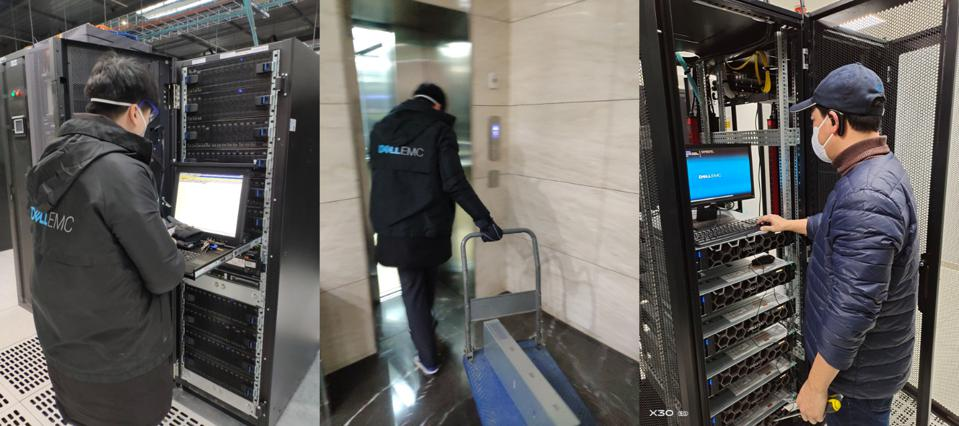 Dell Technologies Greater China Field Services team members providing mission critical support onsite at customer data centers