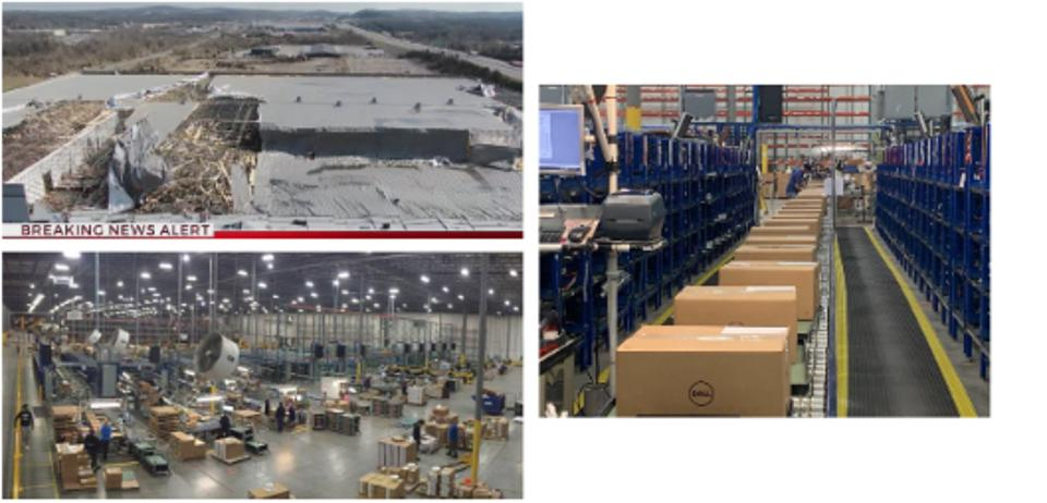 Just weeks after sustaining catastrophic damage from the March 3rd tornado in Nashville, Dell Technologies Services had operations fully up and running at a new facility