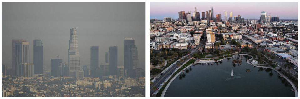 Los Angeles before and after Coronavirus.