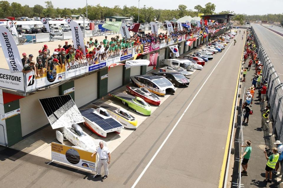 Forty four teams from twenty countries gather at the Hidden Valley Raceway in Darwin before the start of the BWSC.
