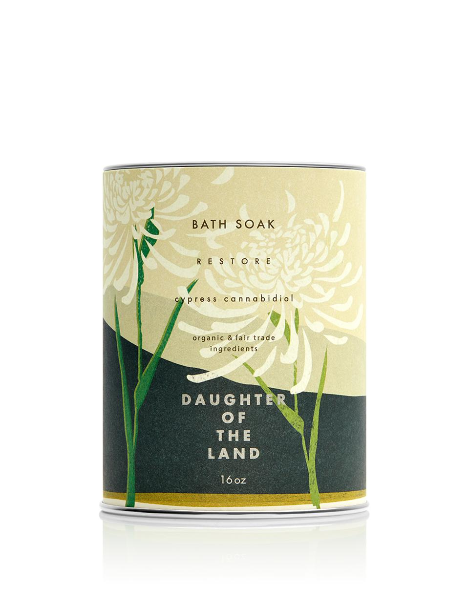 Daughter of the Land, CBD wellness, CBD bath soaks, luxury cannabis, Mother's Day gifts