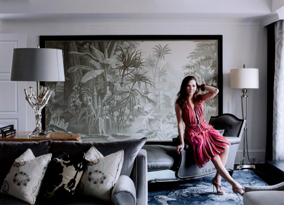 Award-winning architect Lauren Rottet in the Presidential Suite of the Surrey Hotel in New York.