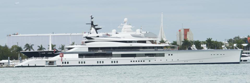 Bravo Eugenia, the yacht owned by Dallas Cowboy owner Jerry Jones.
