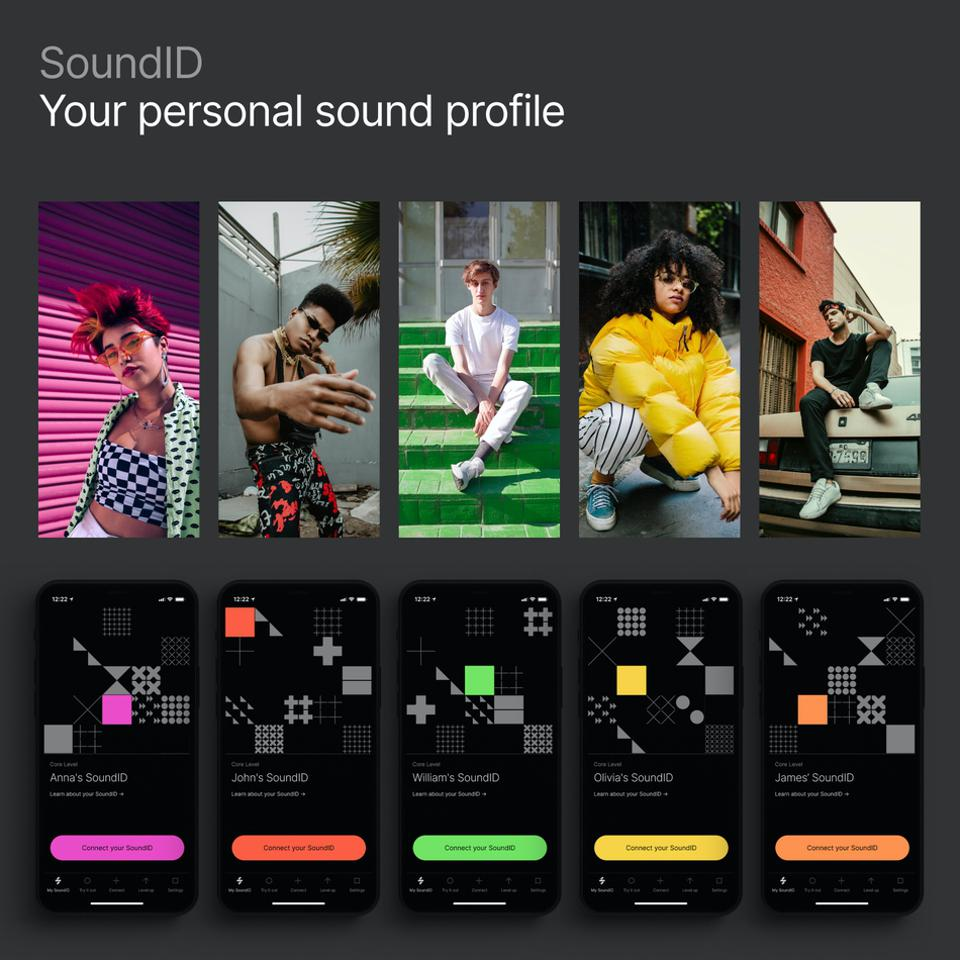 Sound profiles on a screen