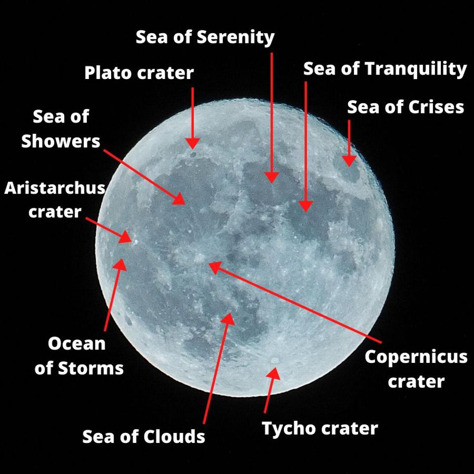 Major craters are lunar seas on the Moon.