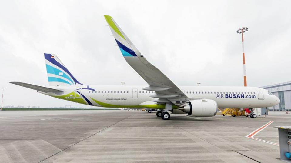 Air Busan's first Airbus A321LR, the maiden A321LR in East Asia