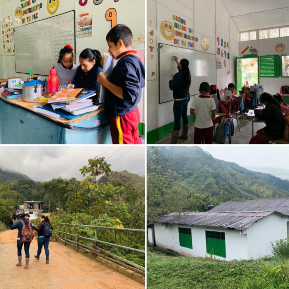 STEm sin Fronteras working with kids in the rural region of central Colombia called Rovira, in the department of Tolima